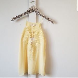 NWT WAYF | yellow tank top blouse size small
